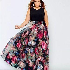 Eliza J gown dress maxi Floral Wedding new 7187